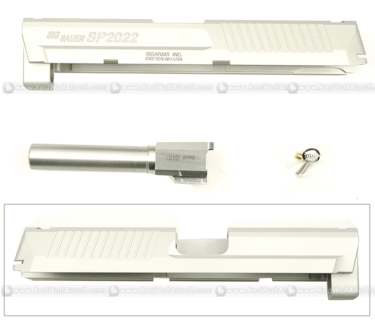 Shooters Design SIG SP2022 Silver Metal Slide & Barrel Set For KSC SIG SP2009 / 2340