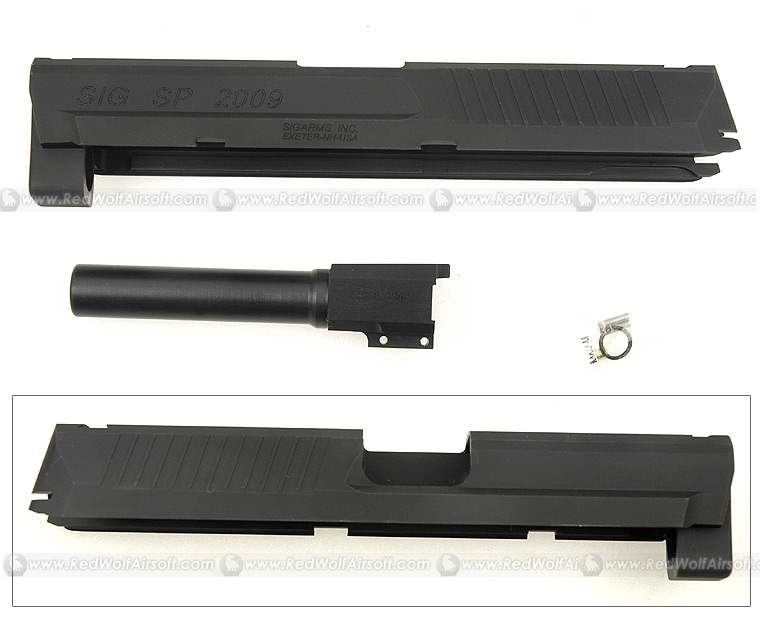 Shooters Design SIG SP2009 Black Metal Slide & Barrel Set For KSC SIG SP2009