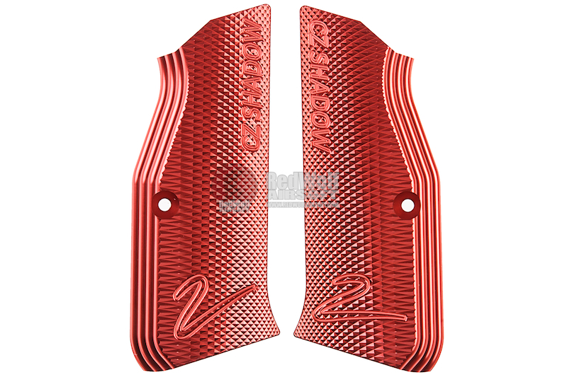 KJ Works Shadow 2 Aluminum Grip Panel (Shadow 1 Compatible) - Red