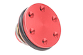 SHS Aluminum CNC AEG Piston Head - Red
