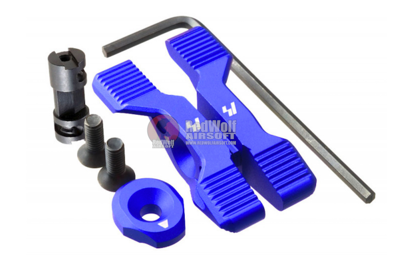 Strike Industries Aluminum 6061-T6 Selector Switch for M4 GBBR Series- Blue