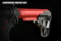 Strike Industries Pit Viper Stock for Strike Industries 7-Position Advanced Receiver Extension - Red