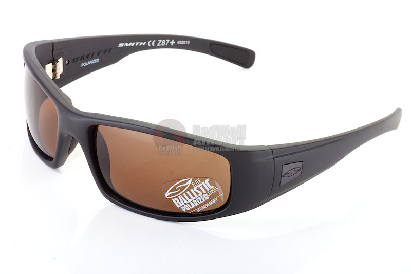 Smith Optics Tactical Lifestyle Sunglasses Hideout (Polarized) - Brown <font color=yellow>(Clearance)</font>