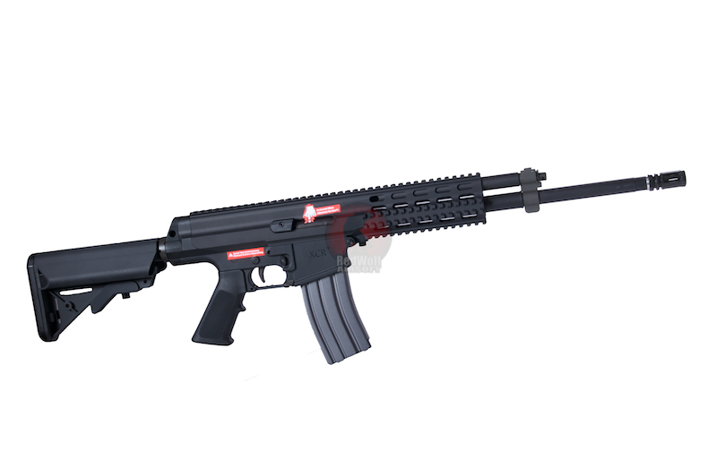 Socom Gear XCR-Rapid Deploy Carbine AEG With 16 inch Heavy  Bull Barrel & Rear Wired Li-Po Ready Storage