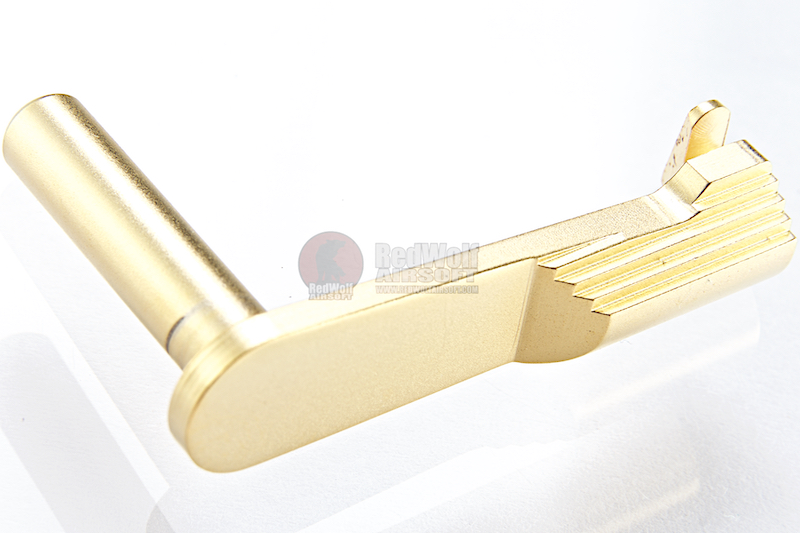 Airsoft Masterpiece CNC Steel Slide Stop (Type 1) for Tokyo Marui  Hi-Capa GBB - Gold