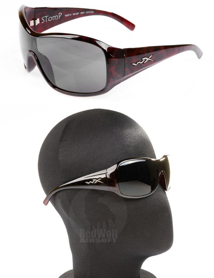 Wiley X Stomp with Grey Lens / Red Leopard Frame <font color=red>(Export Only)</font>