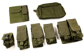 PANTAC Molle Pouches Set Basic Version (Cordura / Olive Drab)  <font color=red>(HOLIDAY SALE)</font>