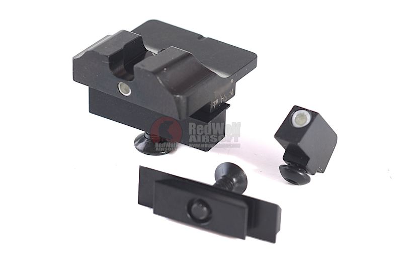 Detonator Warren Tactical Steel Sight Set for Tokyo Marui G Series 17 / 18C GBB