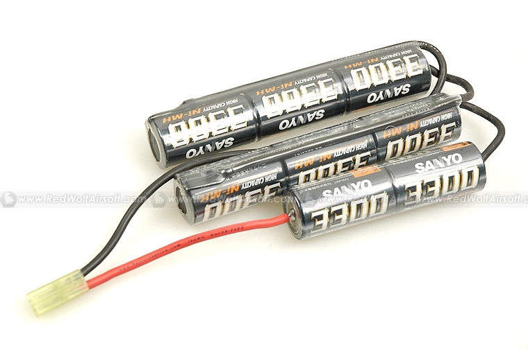 Sanyo Custom 9.6v 3300mah Battery (NiCD) - Crane Stock Type <font color=red>(Clearance)</font>
