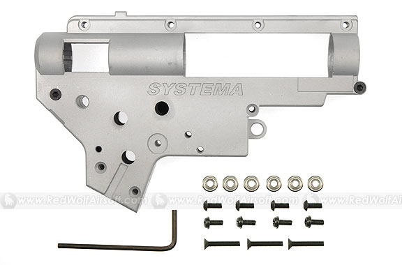 Systema Mecha-Box (Gearbox) CASE for M4A1, M4RIS, M16A2, SR16-M4, S-System (7mm Bushing)