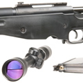 Tanaka M700 A.I.C.S. Covered Snyper with 3-9x40mm Scope & High Mount Rings (BLACK)