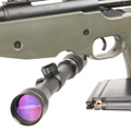 Tanaka M700 A.I.C.S. Coverd Snyper with 3-9x40mm Scope & High Mount Rings (GREEN)