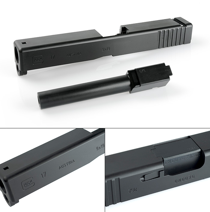 Tokyo Marui G17 Original Slide and Outer Barrel (#G-17-1 and #G17-11)