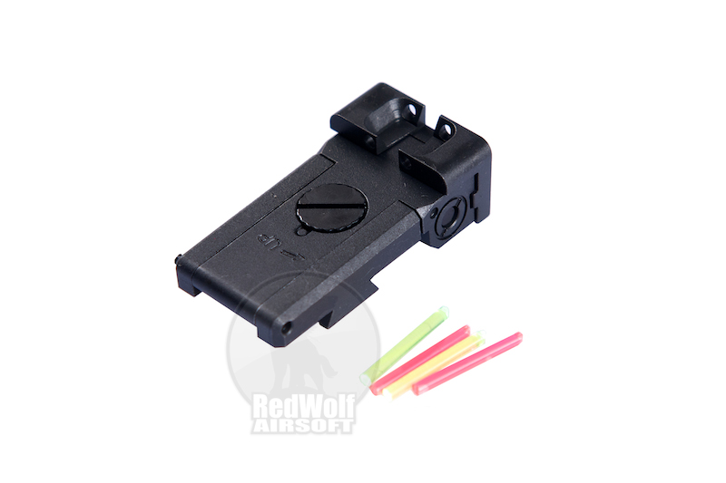 Nova Steel Rear Fiber Optic Sight for Hi-CAPA 5.1 (Dawson Optic)