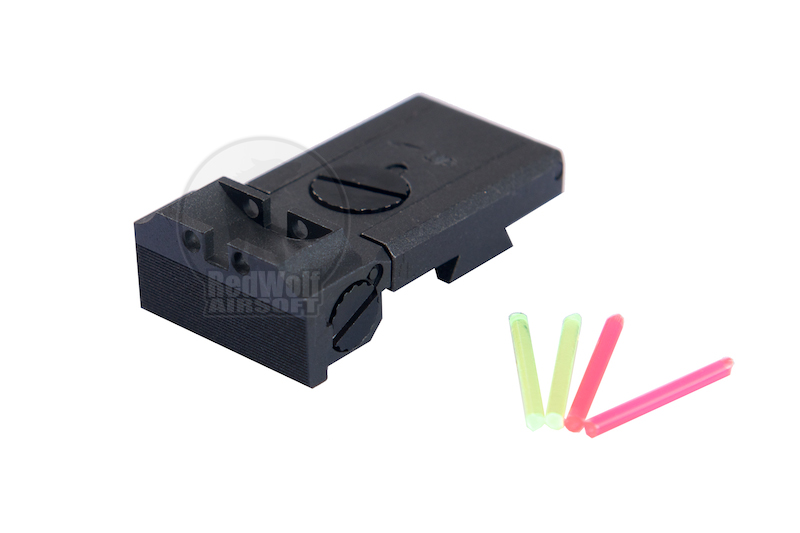 Nova Steel Rear Fiber Optic Sight for Hi-CAPA 5.1 (SV)