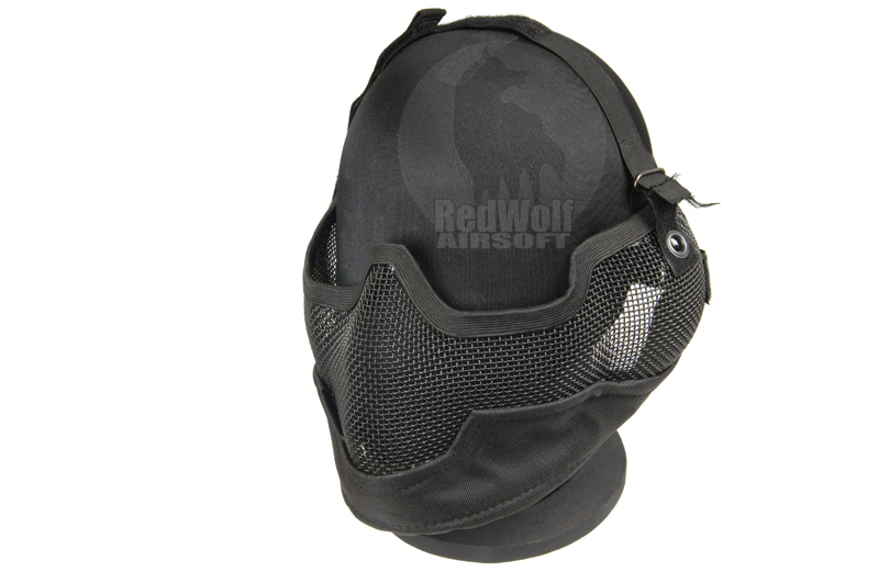 TMC V2 Strike Metal Mesh Half Face Mask (Black)