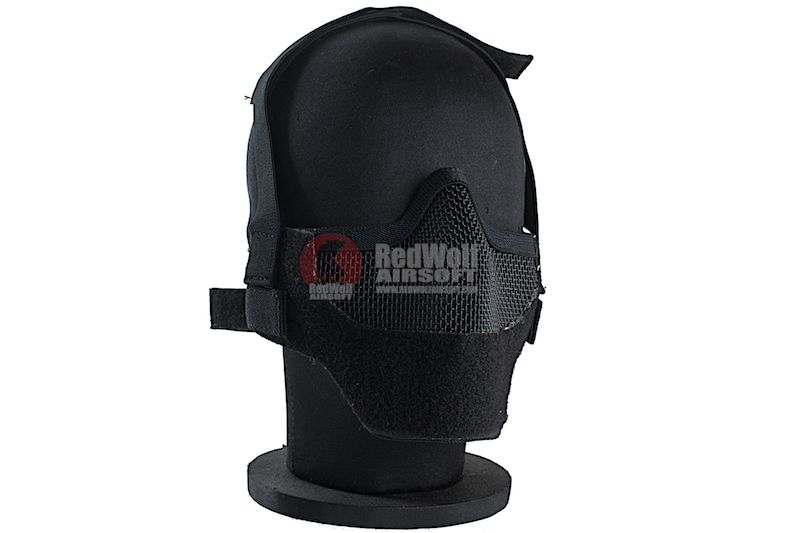 TMC Spartan Mesh Half Face Airsoft Mask (Black)