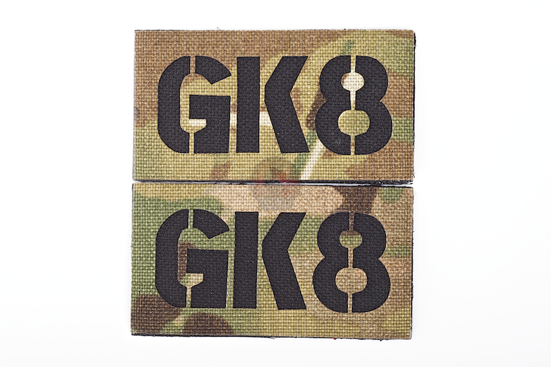 TMC Seal Team Callsign Embroidery Patch Set( Multicam ) GK8