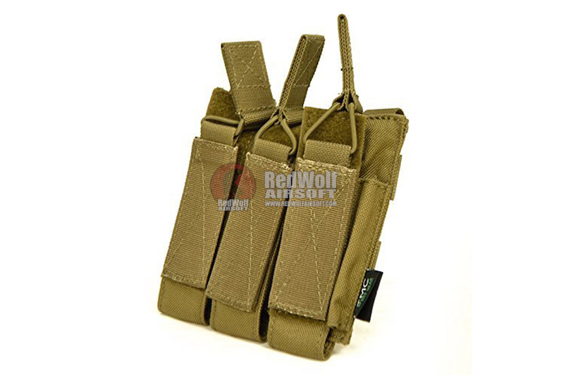 TMC Molle Tri Open Top Magazine Pouch for MP7 - Khaki