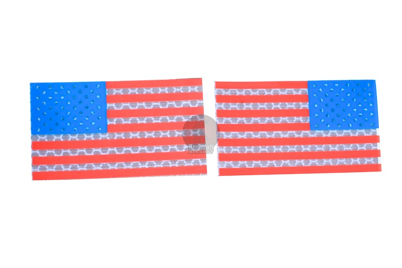 TMC Reflective PVC IR Patch Set (USA FLAG)