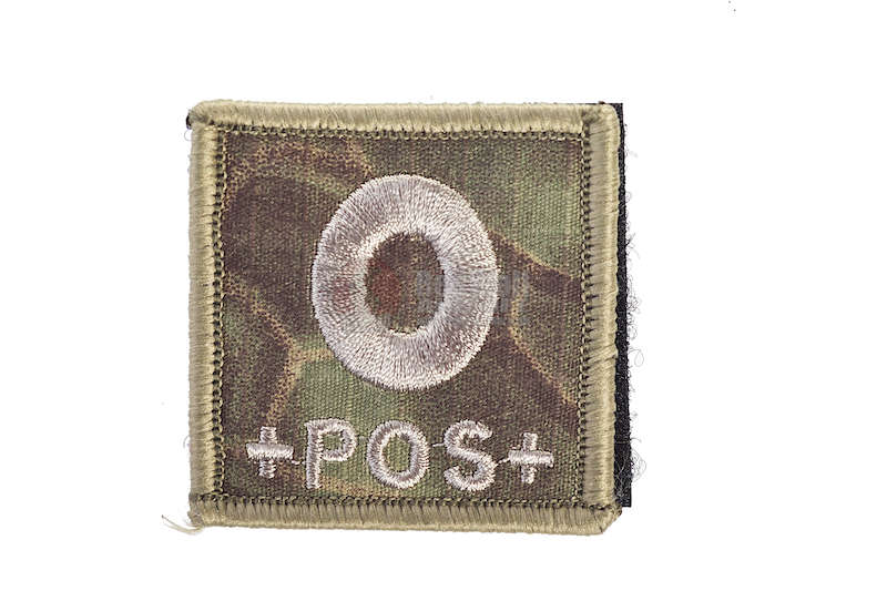 TMC Velcro Patch Blood Type (KTP MAD) O+