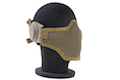TMC Mesh Airsoft Mask with Ear Cover - Khaki