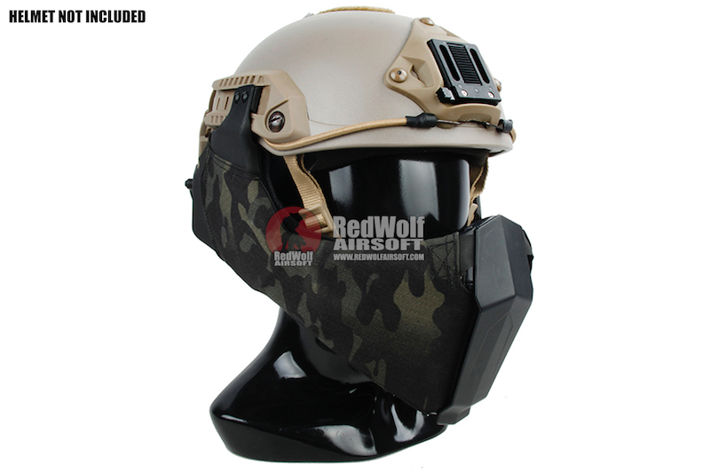 TMC MANDIBLE For OC Highcut Helmet - Multicam Black