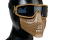 TMC Impact-rated Goggle with Removable Airsoft Mask (Coyote Brown)
