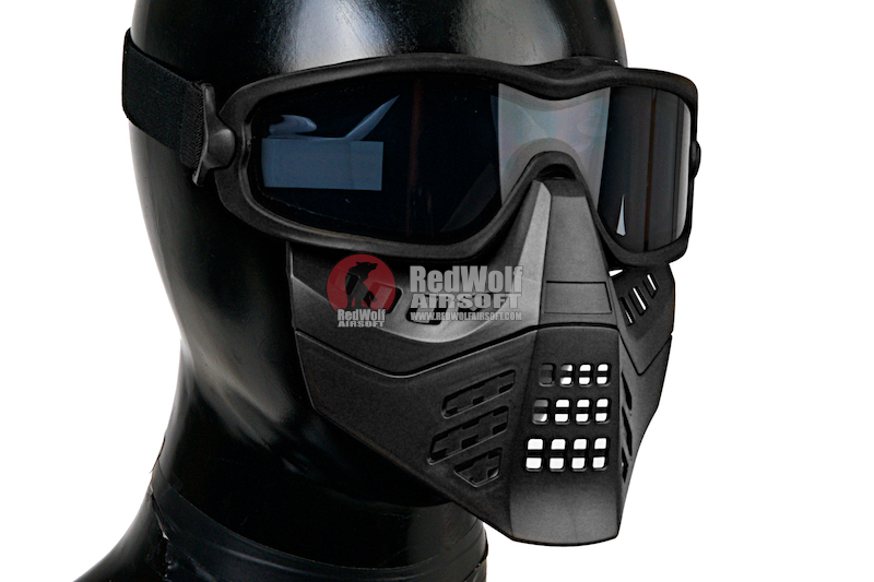 TMC Impact-Rated Goggle with Mask - Black