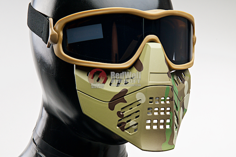 TMC Impact-Rated Goggle with Mask - Multicam