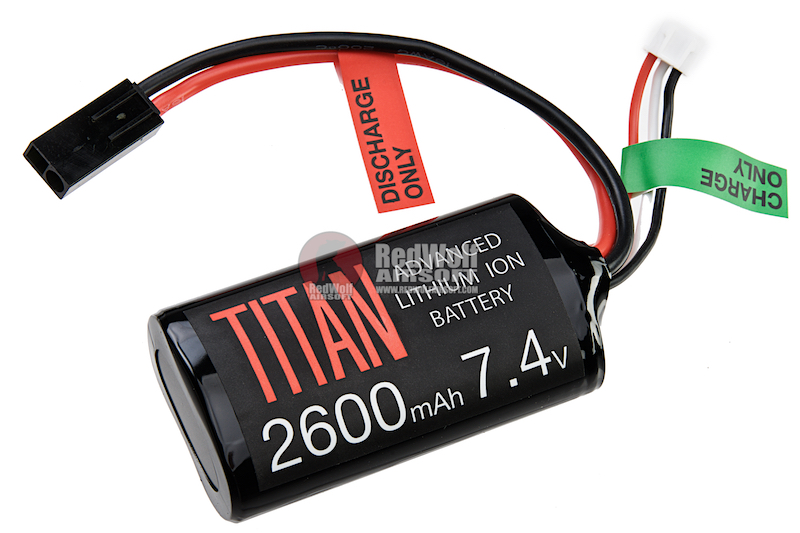 Titan Power 7.4v 2600mah Brick Tamiya Lithium Ion Battery