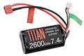 Titan Power 7.4v 2600mah Brick Deans Lithium Ion Battery