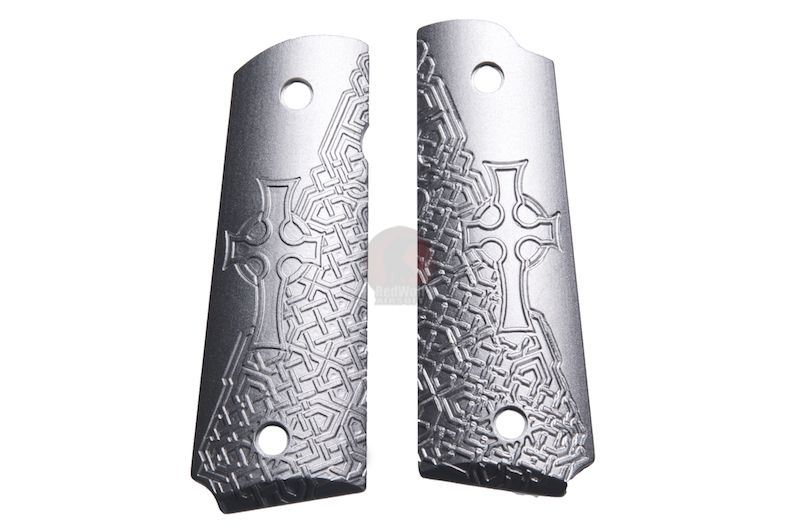 TSC CNC Type C Pistol Grip For KJ M1911 GBB - Silver