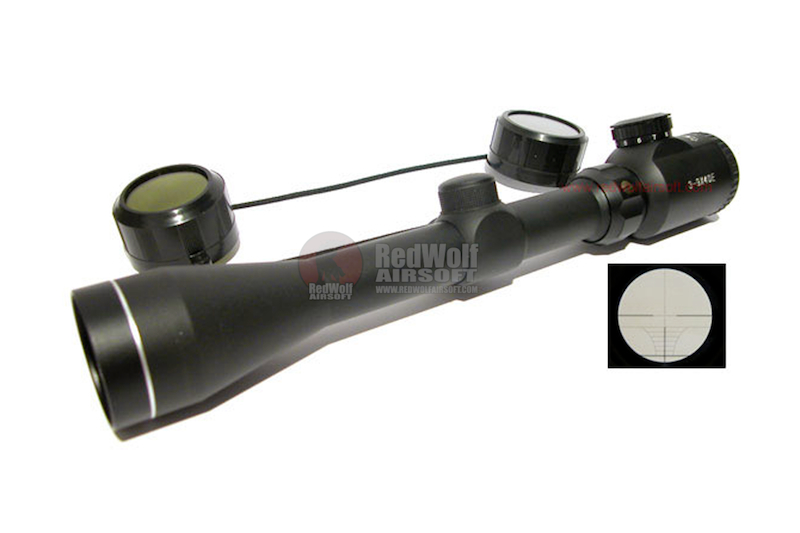 TSC 3-9X40E Illuminated Crosshair Scope
