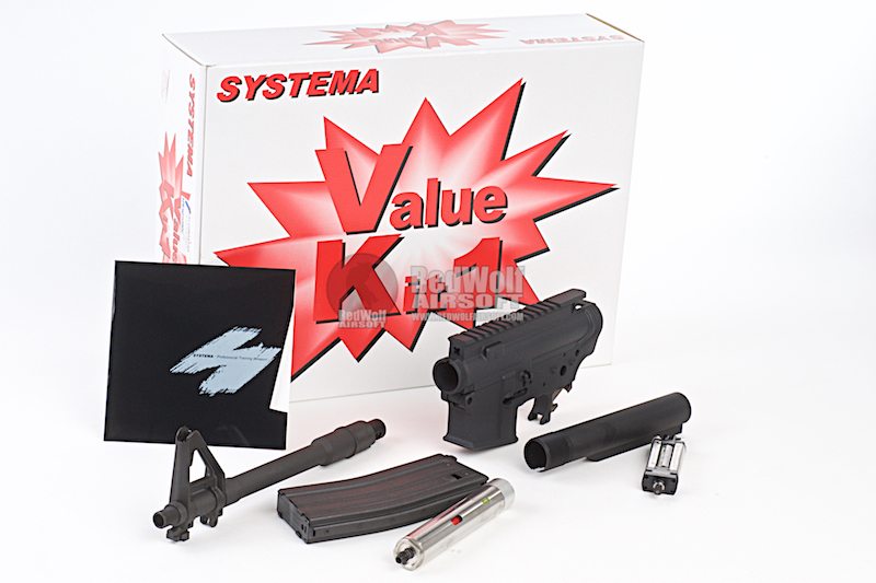 Systema PTW M4-A1 Value Kit 1 (Included Regular Gear Box) - Upgrade Kit CQBR (M130 Cylinder)