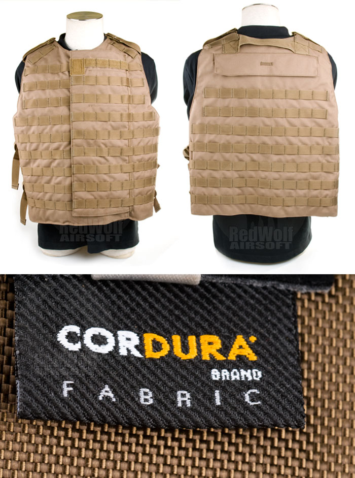 PANTAC OTV Interceptor Body Armor (Large / Coyote Brown / Cordura) <font color=yellow>(Clearance)</font>