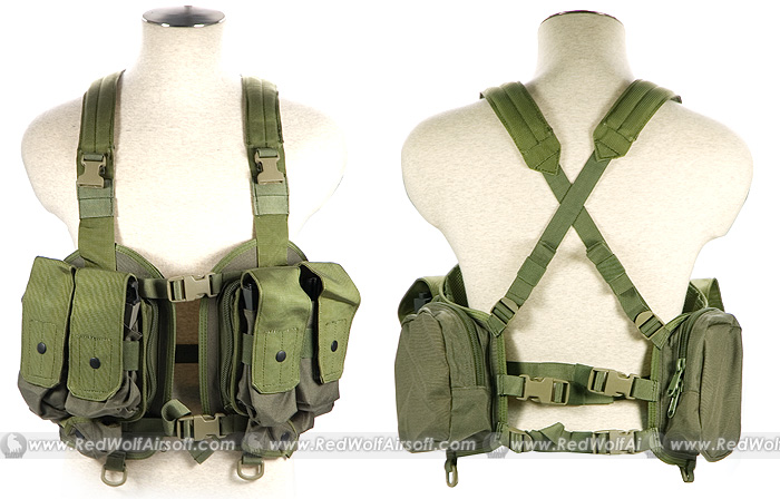 PANTAC LBT NSW Split Front Chest Vest (OD, Cordura)