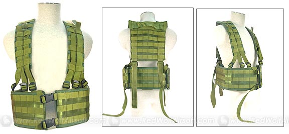 PANTAC LBE Vest (OD / CORDURA)<font color=yellow> (Year End Sale)</font> <font color=red>(Free Shipping Deal)</font>