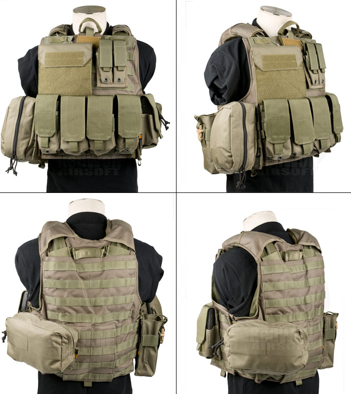 PANTAC Maritime Force Recon with Molle Pouches (Medium / RG / Cordura)
