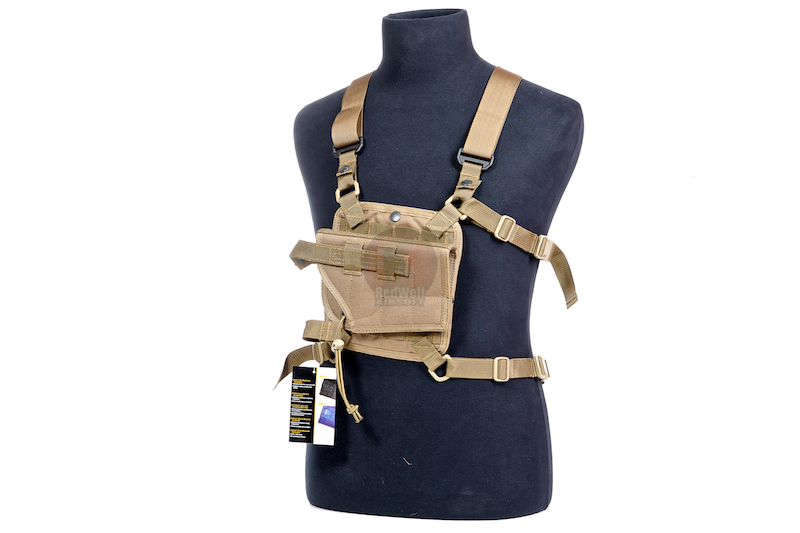 PANTAC Shoulder MOLLE System Panel w/ Holster (CB / CORDURA) <font color=yellow>(Clearance)</font>