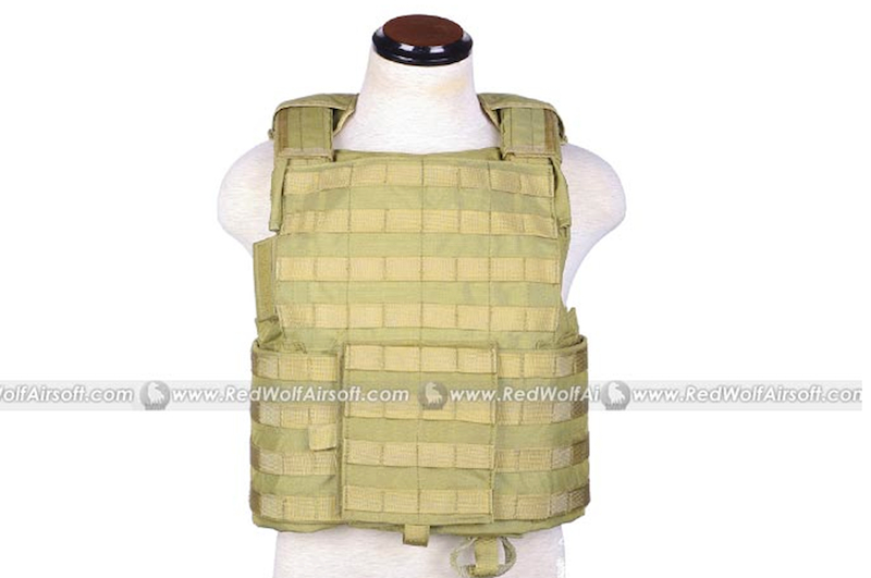 PANTAC Force Recon Vest Land (Khaki / Small/ CORDURA)