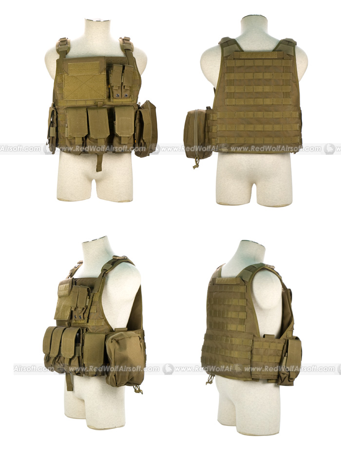 PANTAC Molle Style PC Plate Carrier (CB / Medium / CORDURA)