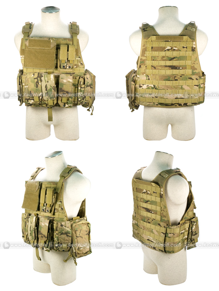 PANTAC Molle Style PC Plate Carrier (Crye Precision Multicam / Medium / CORDURA)