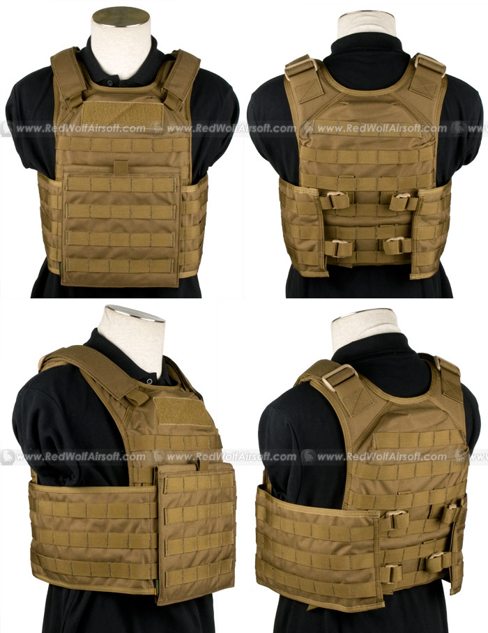 PANTAC Molle Tactical Plate Carrier Full Set (CB / Medium / Cordura)