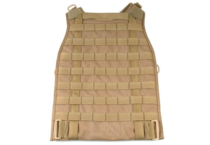 Pantac MOLLE RRV Back Panel (Coyote Brown / Cordura)