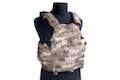 PANTAC Molle 6094 Plate Carrier With Commerbund (Small / A-TACS / Cordura) - Deluxe Version