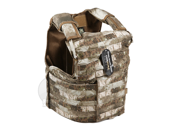 PANTAC Releaseable Molle Armor Land Version, Armor Cover Only (Large / A-TACS / Cordura) <font color=yellow>(Clearance)</font>