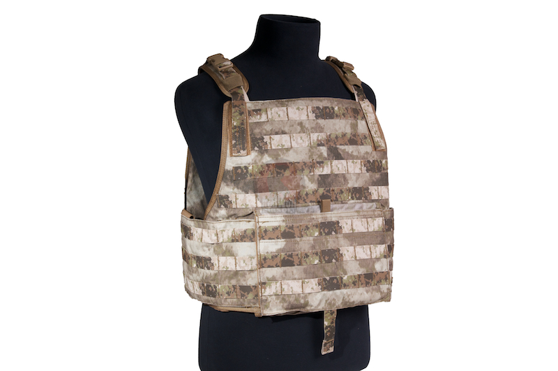 PANTAC Strike Plate With Pouch Set (Small / A-TACS / Cordura) - Deluxe Version