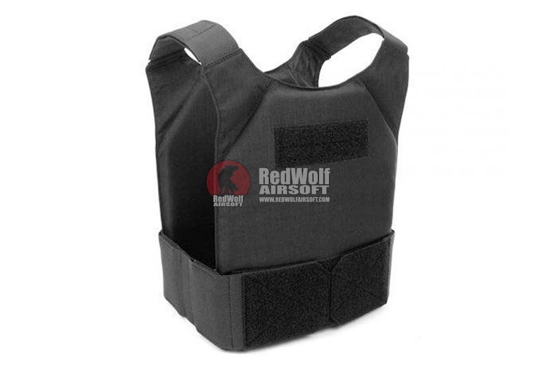 Warrior Assault Systems Covert Plate Carrier MK1 with Triple Hook and Loop Mag Pouch - Black