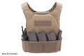 Warrior Assault Systems Covert Plate Carrier MK1 with Triple Hook and Loop Mag Pouch - Coyote Tan